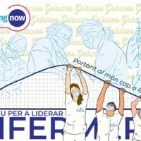 Ilustración para celebrar el dia internacional de la enfermera coincidía en el inicio de la bajada de la primera ola covid en España