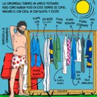 Snoopynurse reinvindicativo sobre cómo viste una enfermera muchos vestidos, pero sin cofia ni minifalda