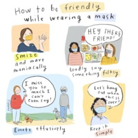 How to be friendly while wearing a mask